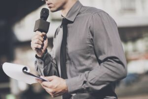 Experience as news reporter